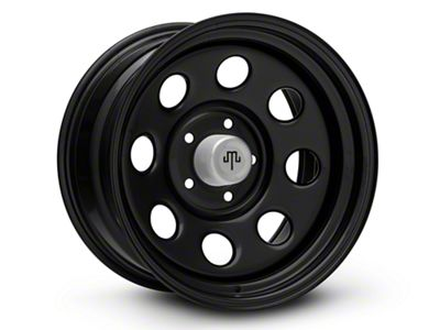Mammoth 8 Steel Black Wheels (07-18 Jeep Wrangler JK; 2018 Jeep Wrangler JL)
