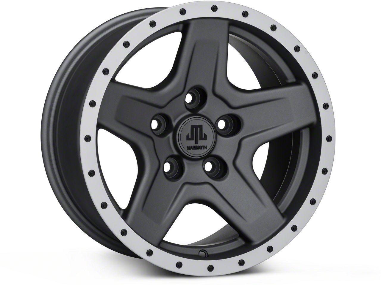 Mammoth Boulder Beadlock Style Charcoal Wheels (07-18 Jeep Wrangler JK; 2018 Jeep Wrangler JL)