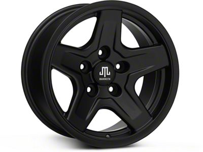 Mammoth Boulder Black Wheels (07-18 Jeep Wrangler JK; 2018 Jeep Wrangler JL)
