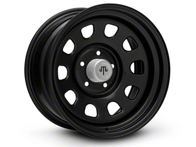 Mammoth D Window Black Steel Wheels (07-18 Jeep Wrangler JK; 2018 Jeep Wrangler JL)