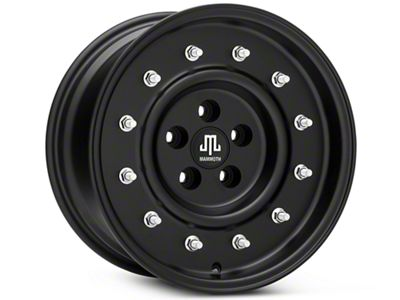 Mammoth General Matte Black Wheels (07-18 Jeep Wrangler JK; 2018 Jeep Wrangler JL)