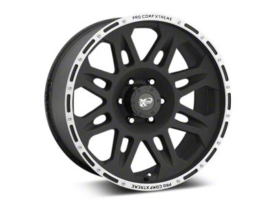 Pro Comp Alloy Series 7105 Flat Black Wheels (07-18 Jeep Wrangler JK; 2018 Jeep Wrangler JL)