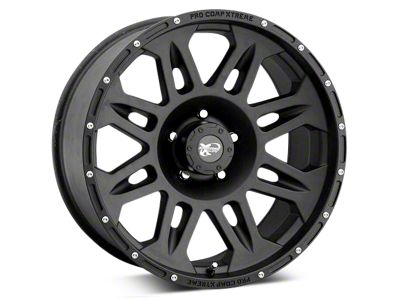 Pro Comp Wheels Alloy Series 7005 Flat Black Wheels (07-18 Jeep Wrangler JK)