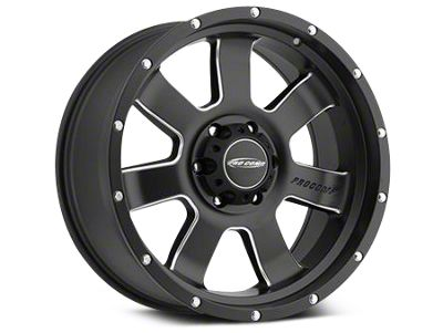 Pro Comp Wheels Alloy Series 39 Inertia Satin Black Milled Wheels (07-18 Jeep Wrangler JK)