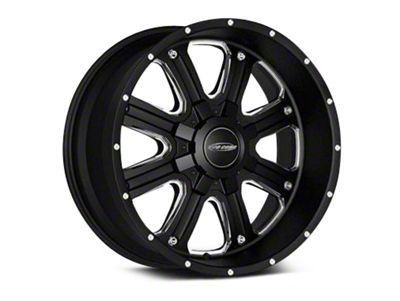 Pro Comp Wheels Alloy Series 82 Phantom Satin Black Milled Wheels (07-18 Jeep Wrangler JK)