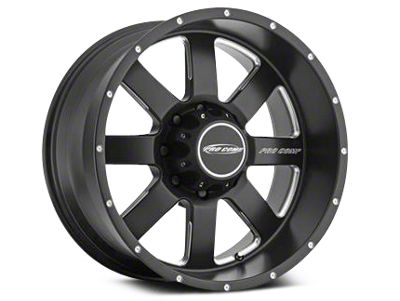 Pro Comp Wheels Alloy Series 83 Vapor Satin Black Milled Wheels (07-18 Jeep Wrangler JK)