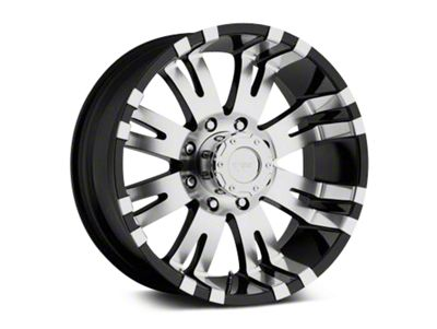 Pro Comp Wheels Alloy Series 01 Gloss Black Machined Wheels (07-18 Jeep Wrangler JK)