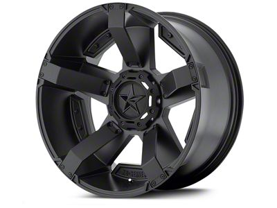Rockstar XD811 RS2 Satin Black Wheels (07-18 Jeep Wrangler JK; 2018 Jeep Wrangler JL)