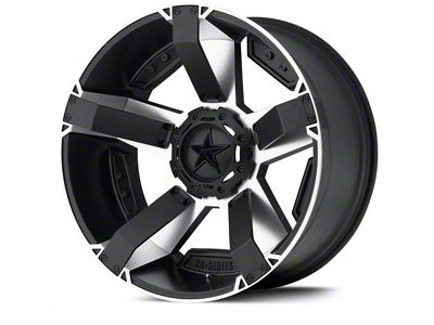Rockstar XD811 RS2 Black Machined Wheels (07-18 Jeep Wrangler JK; 2018 Jeep Wrangler JL)