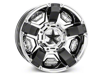 Rockstar XD811 RS2 PVD Chrome Wheels (07-18 Jeep Wrangler JK; 2018 Jeep Wrangler JL)