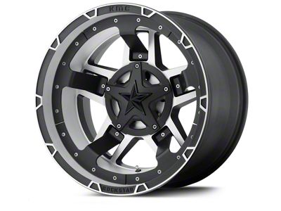Rockstar XD827 RS3 Matte Black Machined Wheels (07-18 Jeep Wrangler JK)