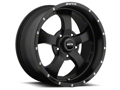 SOTA Off Road Novakane Stealth Black Wheels (07-18 Jeep Wrangler JK; 2018 Jeep Wrangler JL)
