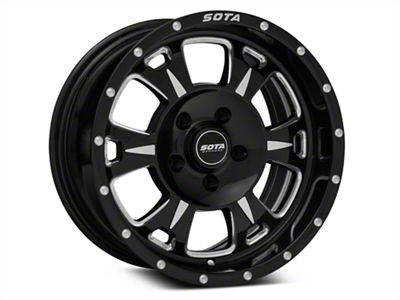 SOTA Off Road M-80 Death Metal Wheels (07-18 Jeep Wrangler JK; 2018 Jeep Wrangler JL)