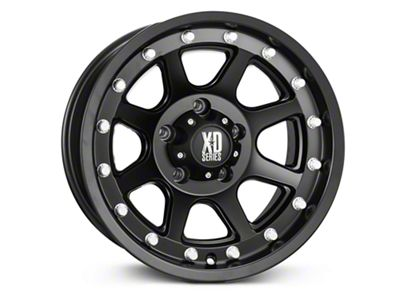 XD Addict Matte Black Wheels (07-18 Jeep Wrangler JK; 2018 Jeep Wrangler JL)