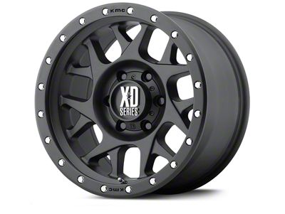 XD Bully Satin Black Wheels (07-18 Jeep Wrangler JK; 2018 Jeep Wrangler JL)