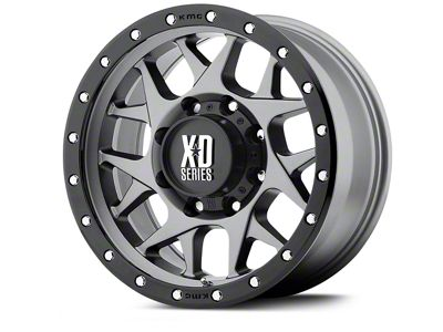 XD Bully Matte Gray w/ Black Ring Wheels (07-18 Jeep Wrangler JK; 2018 Jeep Wrangler JL)