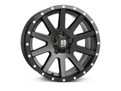 XD Heist Satin Black Wheels (07-18 Jeep Wrangler JK; 2018 Jeep Wrangler JL)