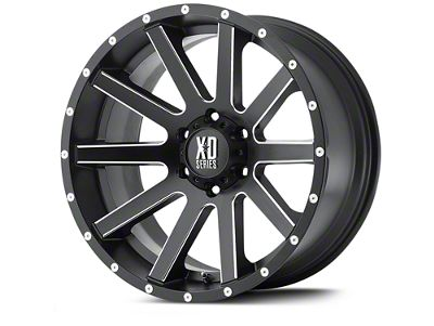 XD Heist Satin Black Milled Wheels (07-18 Jeep Wrangler JK; 2018 Jeep Wrangler JL)
