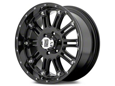 XD Hoss Gloss Black Wheels (07-18 Jeep Wrangler JK; 2018 Jeep Wrangler JL)