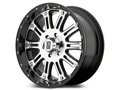 XD Hoss Gloss Black w/ Machined Face Wheels (07-18 Jeep Wrangler JK)