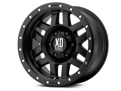 XD Machete Satin Black Wheels (07-18 Jeep Wrangler JK; 2018 Jeep Wrangler JL)