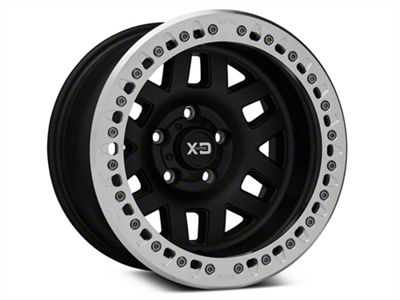 XD Machete Crawl Black Machined Wheels (07-18 Jeep Wrangler JK; 2018 Jeep Wrangler JL)