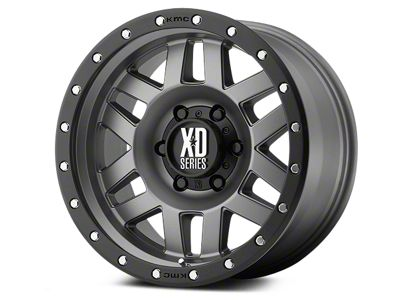 XD Machete Matte Gray w/ Black Ring Wheels (07-18 Jeep Wrangler JK)