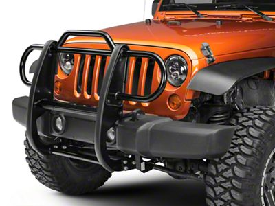 Black Horse Off Road Grille Guard - Black (07-18 Jeep Wrangler JK)