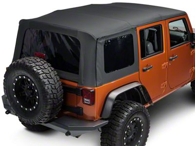 TruShield Replacement Soft Top w/ Tinted Windows - Black Diamond (07-18 Jeep Wrangler JK 4 Door)