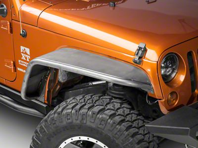 Poison Spyder Extra Wide Crusher Fender Flares - Steel (07-18 Jeep Wrangler JK)