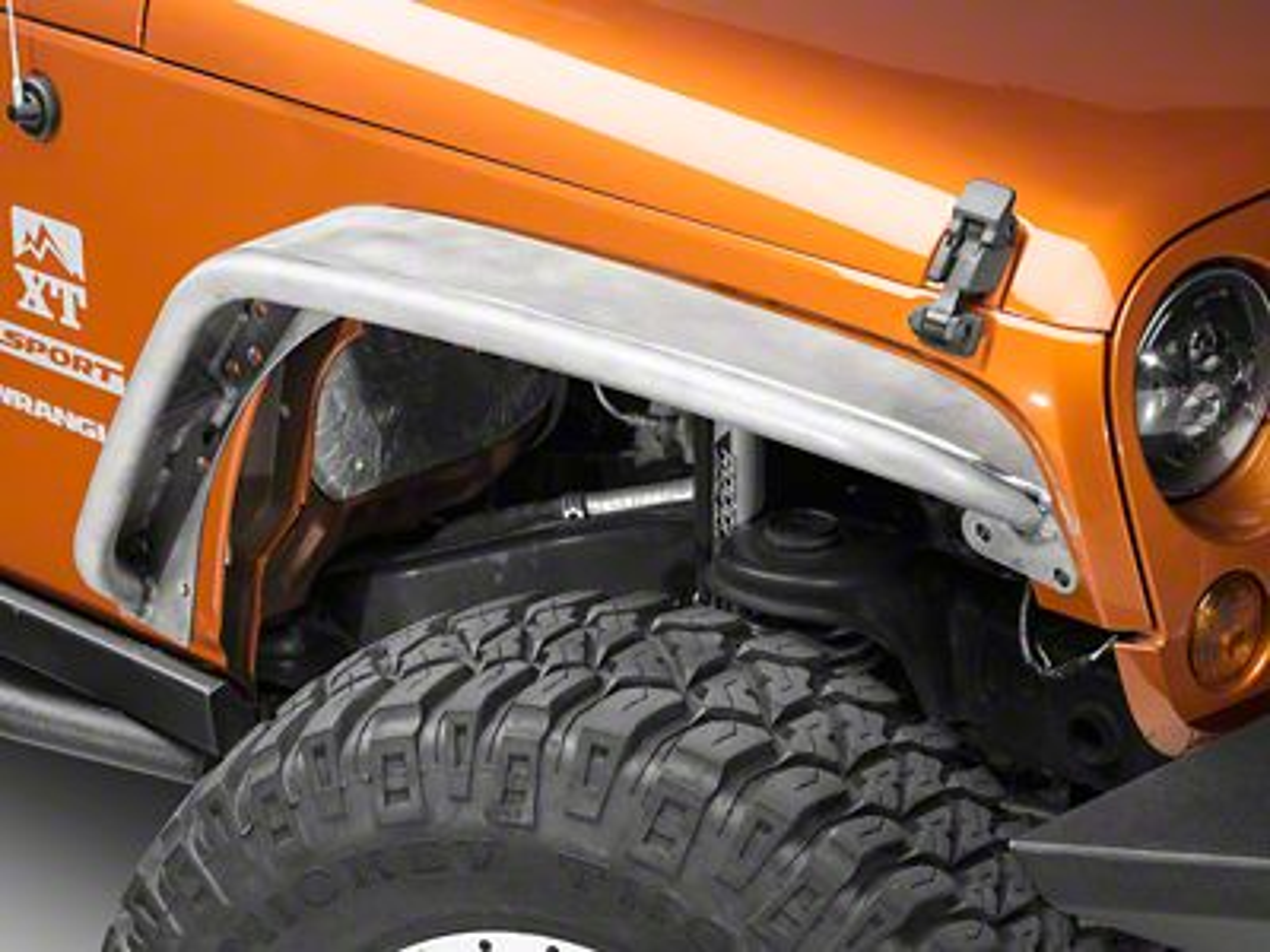 Poison Spyder Narrow Width/Standard Width Crusher Fender Flares - Bare Aluminum (07-18 Jeep Wrangler JK)
