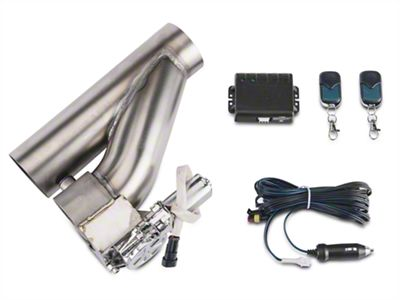 X-Force Electronic Exhaust Cutout Kit - 3 in. (87-18 Jeep Wrangler YJ, TJ, JK & JL)