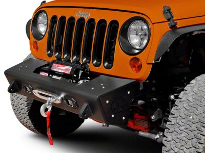 Addictive Desert Designs Stealth Fighter Front Bumper w/ KC Hilites Logo (07-18 Jeep Wrangler JK)