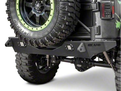 Addictive Desert Designs Stealth Fighter Rear Bumper w/ KC Hilites Logo (07-18 Jeep Wrangler JK)