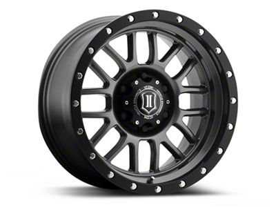 ICON Vehicle Dynamics Alpha Gunmetal Wheel - 17x8.5 (18-19 Jeep Wrangler JL)