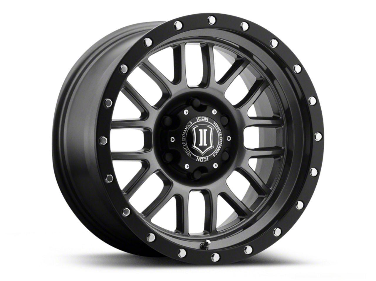 ICON Vehicle Dynamics Alpha Gunmetal Wheel - 17x8.5 (07-18 Jeep Wrangler JK; 2018 Jeep Wrangler JL)