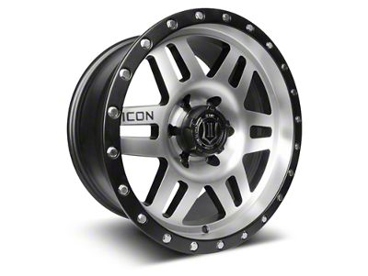 ICON Vehicle Dynamics Six Speed Satin Black Machined Wheel - 17x8.5 (07-18 Jeep Wrangler JK)