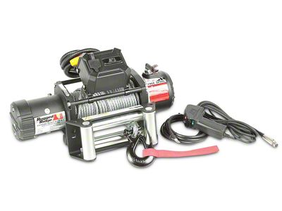 Rugged Ridge Nautic 9,500 lb. Winch w/ Steel Cable (87-19 Jeep Wrangler YJ, TJ, JK & JL)
