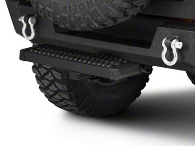 RedRock 4x4 Aluminum Hitch Step for 2 in. Receiver - Black (87-18 Jeep Wrangler YJ, TJ, JK & JL)