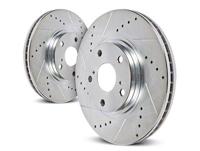 Power Stop Evolution Cross-Drilled & Slotted Rotors - Rear Pair (03-06 Jeep Wrangler TJ w/ Disc Brakes)