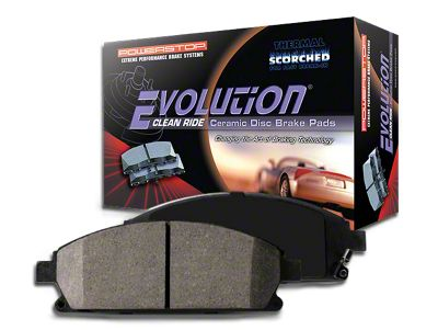 Power Stop Z16 Evolution Clean Ride Ceramic Brake Pads - Rear Pair (03-06 Jeep Wrangler TJ w/ Disc Brakes)