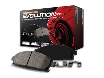 Power Stop Z23 Evolution Sport Ceramic Brake Pads - Rear Pair (03-06 Jeep Wrangler TJ w/ Disc Brakes)