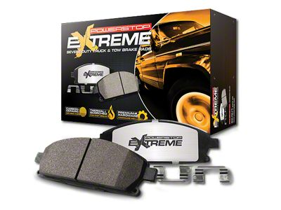 Power Stop Z36 Extreme Truck & Tow Carbon-Ceramic Brake Pads - Front Pair (07-18 Jeep Wrangler JK)