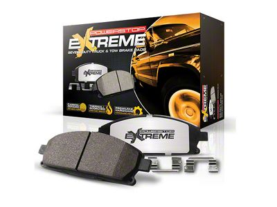 Power Stop Z36 Extreme Truck & Tow Carbon-Ceramic Brake Pads - Rear Pair (03-06 Jeep Wrangler TJ w/ Disc Brakes)