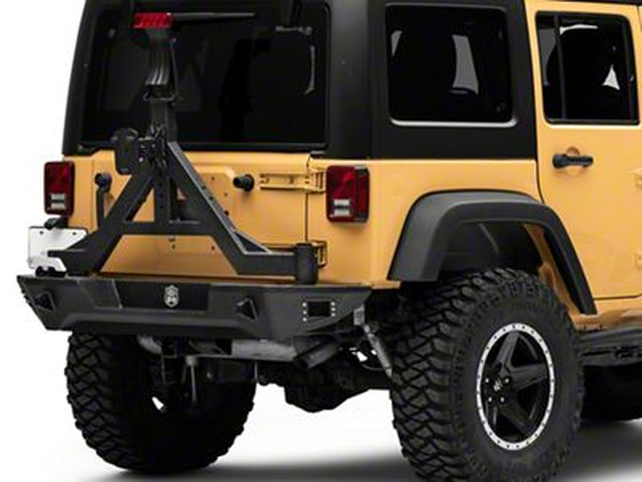 Deegan 38 Rear Bumper w/ Tire Carrier (07-18 Jeep Wrangler JK)
