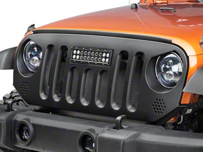 Deegan 38 Grille w/ 10 in. LED Light Bar (07-18 Jeep Wrangler JK)