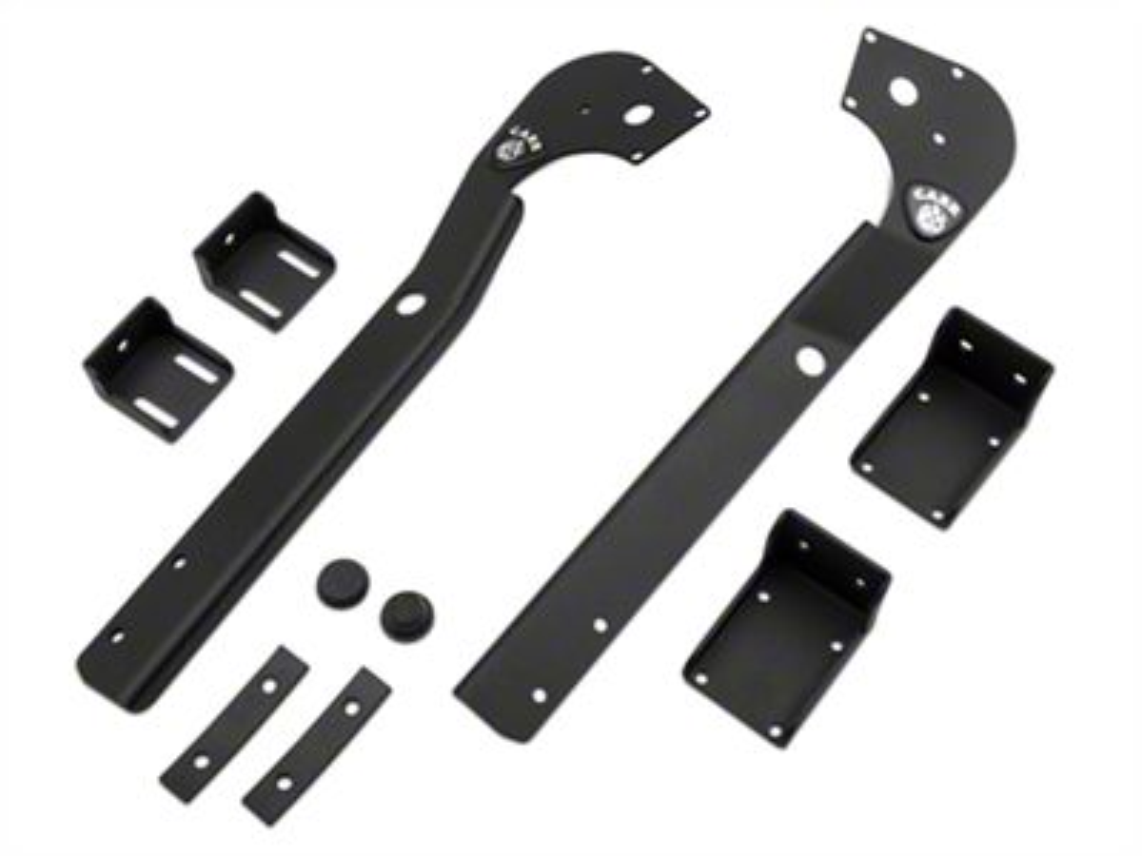 Carr XRS Adjustable LED Light Bar Brackets (87-95 Jeep Wrangler YJ)