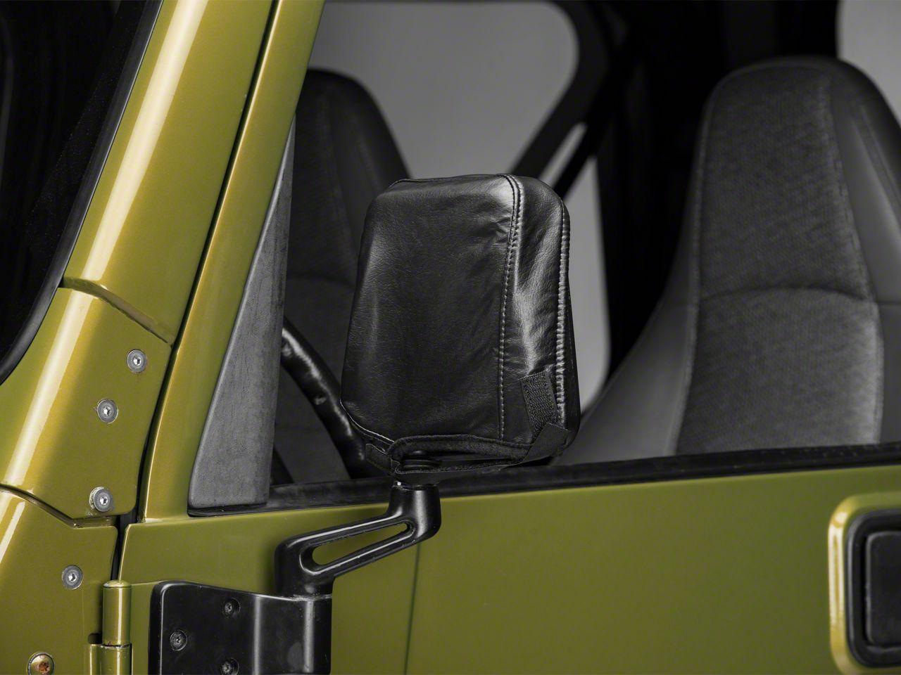 Covercraft Colgan Mirror Bra - Black Vinyl (87-06 Jeep Wrangler YJ & TJ)