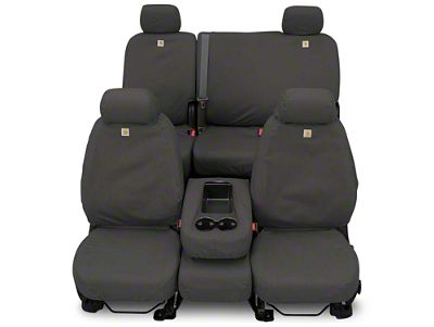 Covercraft Carhartt Seat Saver Front Row Seat Covers - Gravel (87-95 Jeep Wrangler YJ)