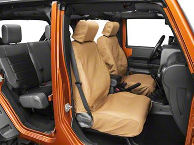 Covercraft Seat Saver Front Row Seat Covers - Tan (07-18 Jeep Wrangler JK)